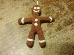 Gins felted gingerbread man 1147