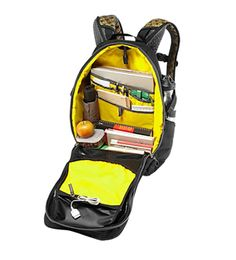 """Other interior organization includes an iPad/tablet pocket, two pen slots, two gadget pockets (one lined), a nice 8"""" x 9"""" zippered pocket, and a generous main. #keen #backpack"""