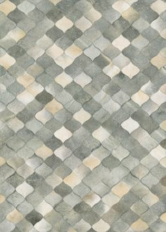 Couristan Chalet Diamonds Cowhide Leather Area Rugs