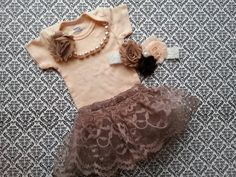 Where to Buy 2015 Thanksgiving Newborn Baby Girl 03 Months Take Home Outfit - 2015 Thanksgiving Kids, Multi Layer Flower, Matching Outfit