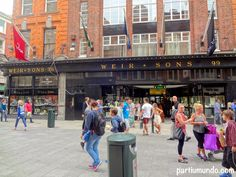 Grafton Street is one of the two principal shopping streets in Dublin city centre. It runs from St. Stephen's Green in the south to College Green in the north. In 2008, Grafton St. was the fifth most expensive main shopping street in the world, at €5,621/m²/year.