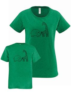 1192effa4cfea Mommy and Me Mother Daughter T Shirt - Mother Son T Shirt - Elephant Giraffe  Matching Shirts