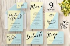 Wedding Invitation Suite - Madison by Print The Love Boutique on @creativemarket
