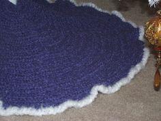 Elegant Crochet Christmas Tree Skirt