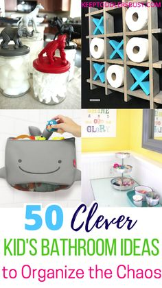 This Compilation of Amazing Kid's Bathroom Ideas Will Have You Wishing you Saw This Earlier! Bring Beautiful Organization To Your Kid's or Toddler's Bathroom! Kids bathroom decor ideas or shar Kids Bathroom Organization, Kid Bathroom Decor, Organization Ideas, Girl Bathrooms, Clever Kids, Multiplication For Kids, Toddler Crafts, Toddler Activities, Diy Shower