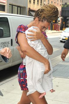 Bad hair day? Beyonce shows off her braids and baby Blue while out in NYC