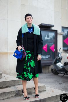 Elisa Nalin Street Style Street Fashion Streetsnaps by STYLEDUMONDE Street Style Fashion Blog