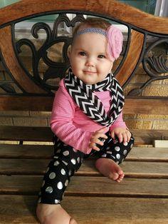Baby girl fashion headband scarf leggings