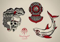 Traditional tattoo illustrations