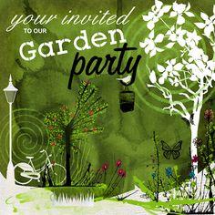 secret garden brunch invitation - the brand collective   1st, Party invitations