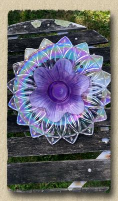 Repurposed Glass Garden Flower or Garden Art Made of new and Vintage Glass and China ware Glass Garden Flowers, Glass Plate Flowers, Glass Garden Art, Metal Garden Art, Flower Plates, Glass Art, Recycled Garden, Recycled Glass, Garden Totems