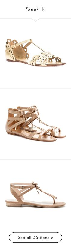 """""""Sandals"""" by kingdomofborduria ❤ liked on Polyvore featuring shoes, sandals, flat sole shoes, tory burch sandals, t strap sandals, strappy shoes, t-strap flat sandals, flats, sapatos and neutrals"""
