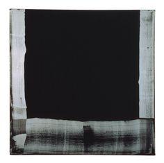 Heilman The Big Black Mirror, 1975  Oil on canvas   149 x 147.3 x 6.5 cm / 58 5/8 x 58 x 2 1/2 in