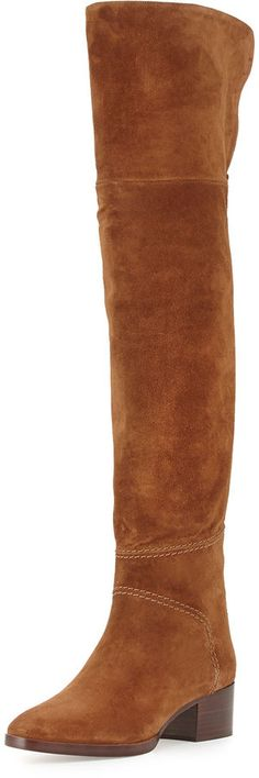 Stuart Weitzman Reserve Suede Over-the-Knee Boot, Nice Blue | Over ...