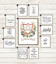 40 Free Farmhouse Printables for that Fixer Upper Vibe Printable Quotes, Printable Wall Art, Fixer Upper, Diy And Crafts, Paper Crafts, H & M Home, Free Prints, Farmhouse Decor, Farmhouse Style