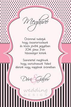 Pink-black wedding invitation card - Rózsaszín fekete, csajos esküvői meghívó Invitation Design, Invitation Cards, Invitations, Wedding Designs, Map, Words, Pink, Maps, Pink Hair