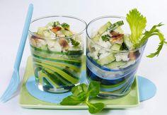 Salade de crabe et concombre