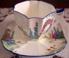 SHELLEY-Queen-Anne-Demi-Cup-and-Saucer-039-Archway-of-Roses-039-11606