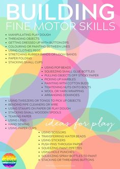 20 Simple Hands-On Activities That Help Build Fine Motor Skills - with fine motor skills going missing at preschool, try some of these hands-on invitations to help strengthen fine motor skills Preschool Fine Motor Skills, Fine Motor Activities For Kids, Motor Skills Activities, Gross Motor Skills, Preschool Learning, Hands On Activities, Early Learning, Toddler Activities, Teaching
