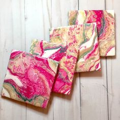 Excited to share this item from my shop: Koko Abstract Art drinks coasters set of four hot pink, gold, teal and white White Coasters, Drink Coasters, Alcohol Ink Glass, Bachelor Gifts, Work Gifts, Corporate Gifts, Coaster Set, Teacher Gifts, Pink And Gold