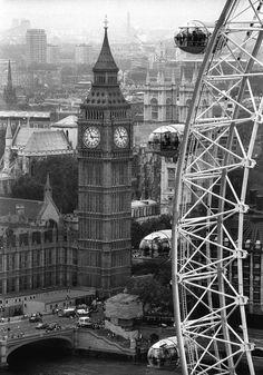 Beautiful view of Big Ben and the London Eye #england #liveintheuk #teachintheuk #engageeducation