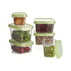 Lock down your prep ingredients and leftovers with these airtight-sealing storage containers in durable, view-through Tritan ™. A dozen non-toxic, modular containers in a mix of squares and rectangles stack in the pantry, fridge or freezer, nest for compact storage. Microwave- and dishwasher-safe Tritan ™ containers resist warping, staining and odors.