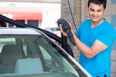 When performing an auto detailing job for clients, the last step is usually to wash and dry the automobile before presenting the car back to the customer.