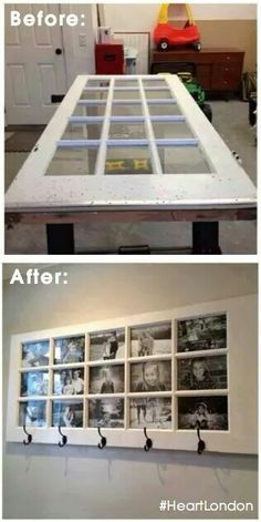Upcycling - turn a door into a picture frame masterpiece!