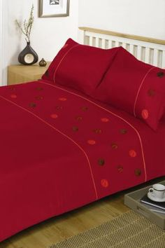 Delta Red Duvet Cover Set Is A Vibriant Red Duvet Cover From Harry Corry  Interiors Available