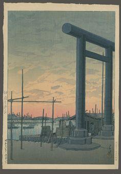 Sumiyoshi Shrine - Tsukuda - 1936 Kawase Hasui