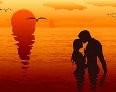 Atardecer, tramonto