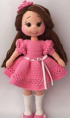 crochet toys and dolls Amigurumi rg Oyuncak Modelleri Amigurumi rg Oyuncak Uzun Sal Kz Bebek Modeli Tarifi ( Anlatml ) rg, rg Modelleri, rg rnekleri, Derya Baykal rgleri Crochet Dolls Free Patterns, Crochet Doll Pattern, Baby Knitting Patterns, Doll Patterns, Crochet Amigurumi, Amigurumi Doll, Crochet Toys, Girl Dolls, Baby Toys