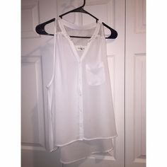 Abercrombie Tank! Abercrombie & Fitch white tank top, only worn a handful of times.  Abercrombie & Fitch Tops Button Down Shirts