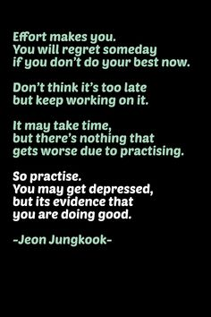motivational quote by Jeon Jungkook - BTS's maknae