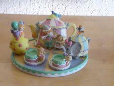 1999 Precious Moments Circus Miniature Tea Set