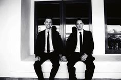 cute couple photo - formal yet casual (gay wedding)