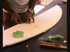 Home made Skimboard, shaping the foam blank(PART 2 OF 3) - YouTube