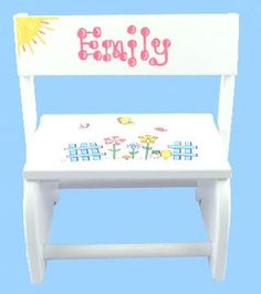 Unique personalized baby gifts babywonderland personalized flowers flip stool at ababy we offer flowers flip stool for your baby at great prices negle Gallery