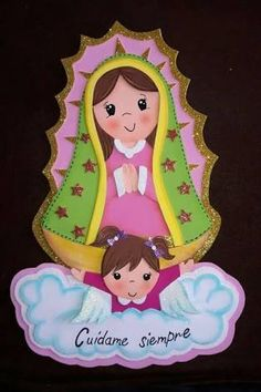 Fun Crafts, Diy And Crafts, Crafts For Kids, Paper Crafts, Baptism Decorations, Catholic Crafts, Mama Mary, Baptism Party, Religious Art