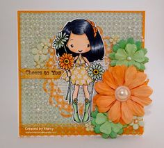 Loves Rubberstamps Design Team Member - Marcy Dangcil - Sensational Sunday Inspirations - The Greeting Farm