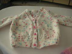 Knitting Galore: Easy Baby Cardigan - newborn                                                                                                                                                                                 More