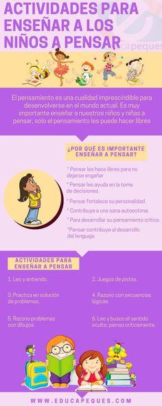 Cómo Enseñar a Pensar a los Niños   Infografía   Blog de Gesvin