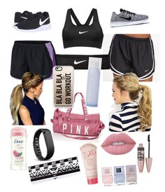 Untitled #14 by emilymknapp on Polyvore featuring polyvore, fashion, style, NIKE, Casetify, Fitbit, Lime Crime, Maybelline, Dove, Zoella Beauty, Nails Inc. and clothing