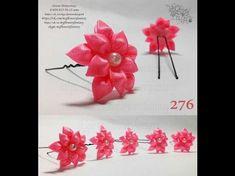 МК Маленькая Лилия 3,5 см на шпильке (маленькие цветочки на шпильке) - YouTube