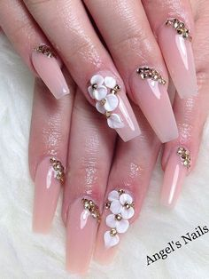 nails - New Ideas Glam Nails, 3d Nails, Pink Nails, Cute Nails, Pretty Nails, 3d Nail Art, Nail Art Designs, Best Acrylic Nails, Nails 2018
