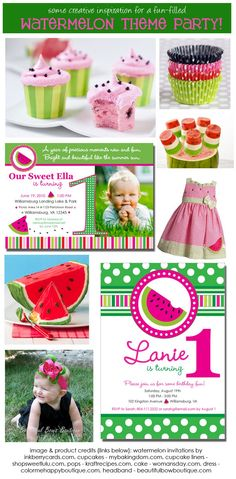 Inkberry Girl: Cute Ideas for a Sweet Watermelon Party!
