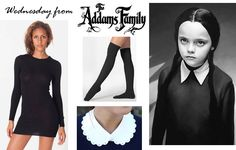DIY Wednesday Addams costume by Rock Mosaic