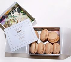 """boxed macaron fashion week invitation from Honor NYC - the perfect """"will you be my bridesmaid?"""" card or special wedding invitation form your VIP guests (think: maid of honor, parents, wedding party)"""