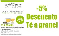 Cuida-té Store Castellón, nace como la primera tienda especializada en té de la Provincia, que ofrece a sus clientes tés puros de calidad, las mejores mezclas testadas en el mercado europeo con innovadores productos como nuestras deliciosas cápsulas de té compatibles Nespresso (marca no relacionada con cuida-té).    http://www.castellom.com/ver_entrada/34.html
