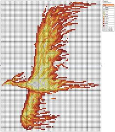 Phoenix by Makibird-Stitching... this would make a wonderful afghan pattern